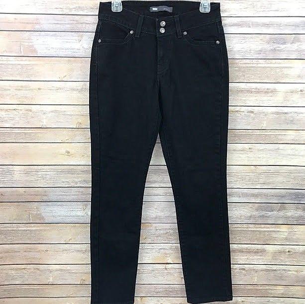 3845994e Levi's 529 Womens Size 6 M Curvy Skinny Leg Jeans Black Denim 28 x 32