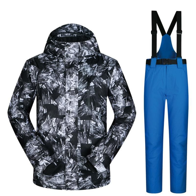 a57e0c65b9 Ski Suit Men Winter 2018 Thermal Waterproof Windproof Clothes Snow pants Ski  Jacket Men Set Skiing And Snowboarding Suits Brands