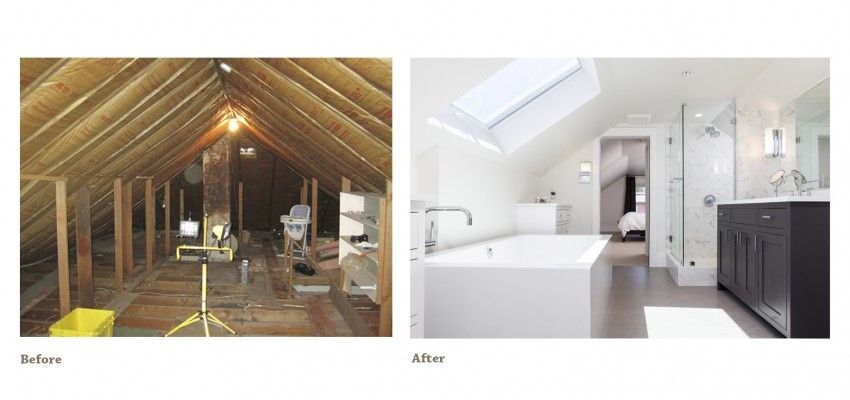 Attic Remodeling Before And After Hip