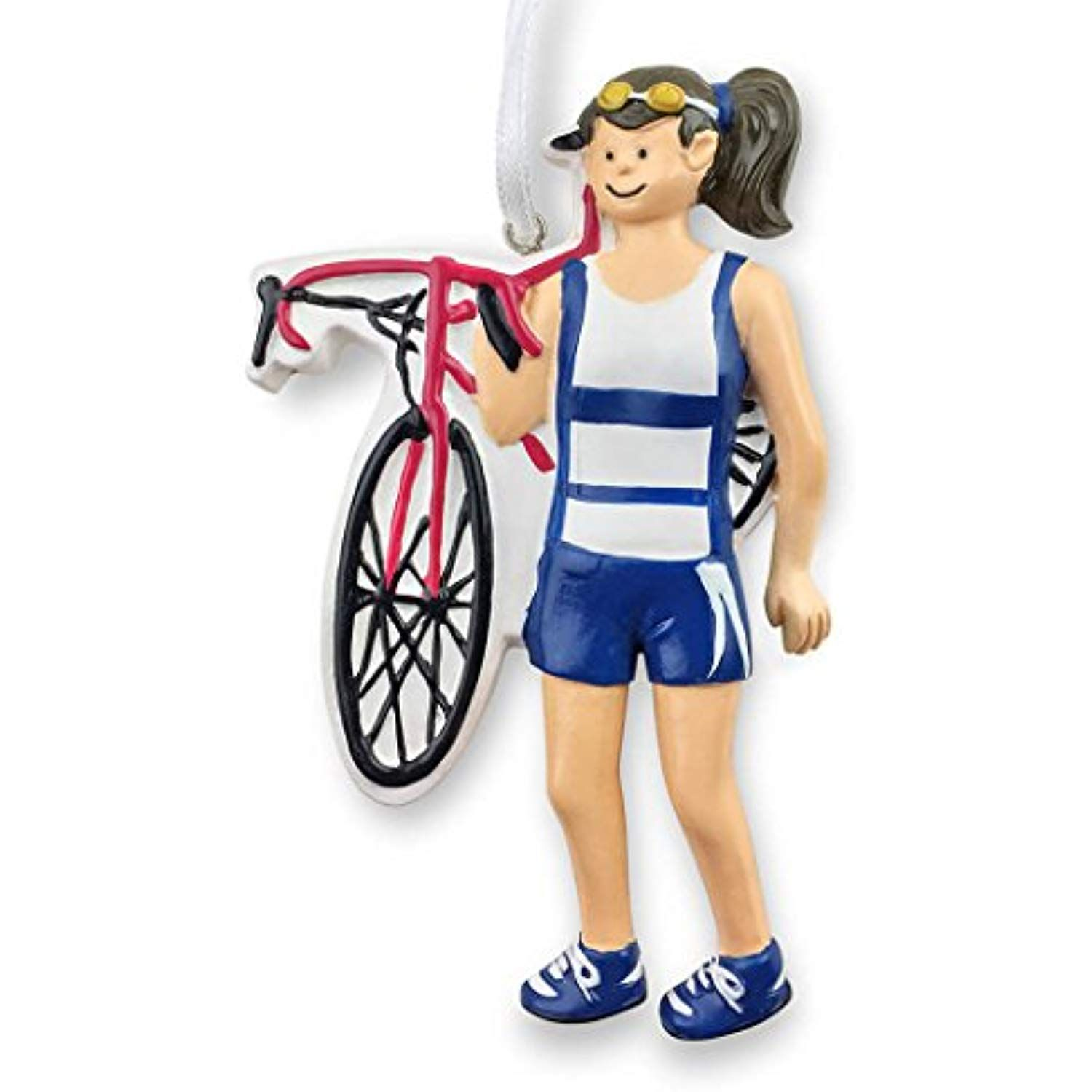 Gone For a Run Triathlete Christmas Ornament | Triathlon ...