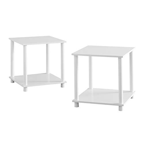 Chairside Table Set Of 2 Small Sofa Couch Side Low End