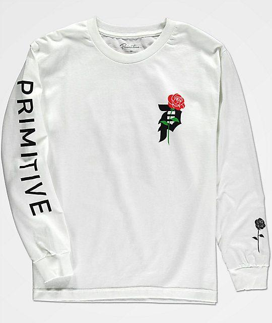 09c26e99d2af Primitive Boys Heartbreak White Long Sleeve T-Shirt in 2019 ...