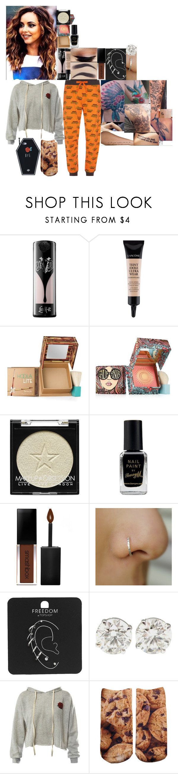 """""""Game of phones video"""" by fuckmeirwin ❤ liked on Polyvore featuring Kat Von D, Lancôme, Benefit, Barry M, Smashbox, Topshop, Sans Souci and Living Royal"""