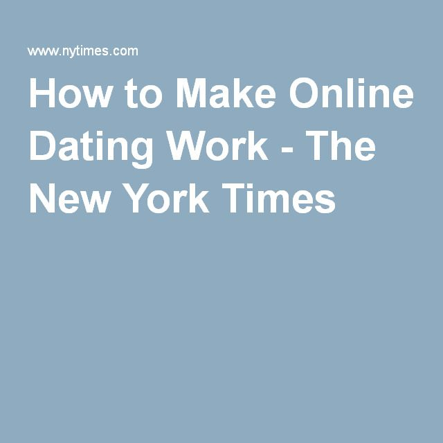 new york times online dating