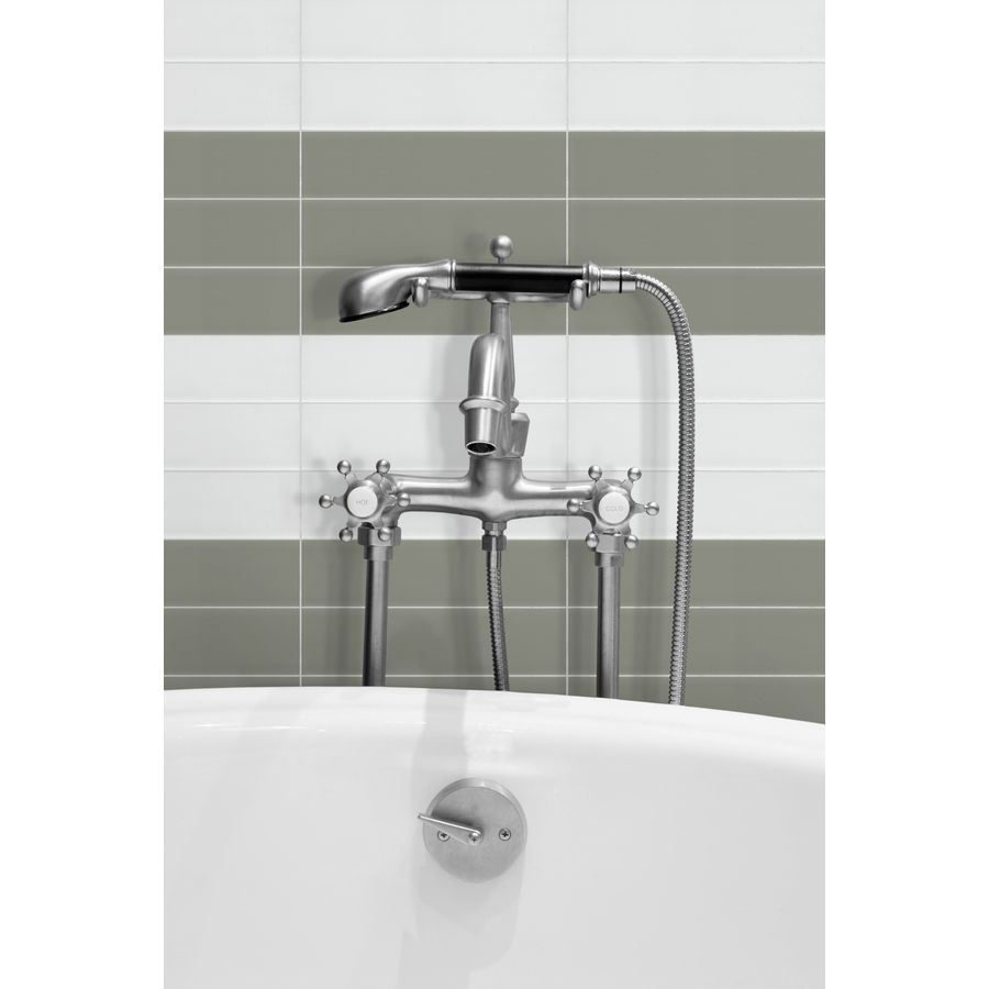 Shop allen + roth Bright White Glass Wall Tile (Common: 3-in x 12-in ...