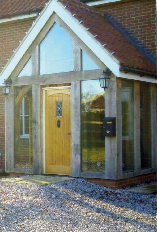 Pin By Rean Home Decor On Barn Conversion Timber Frame Porch Glass Porch Porch Design
