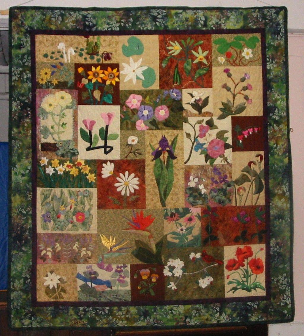 garden quilt. Garden Quilt 2001 T