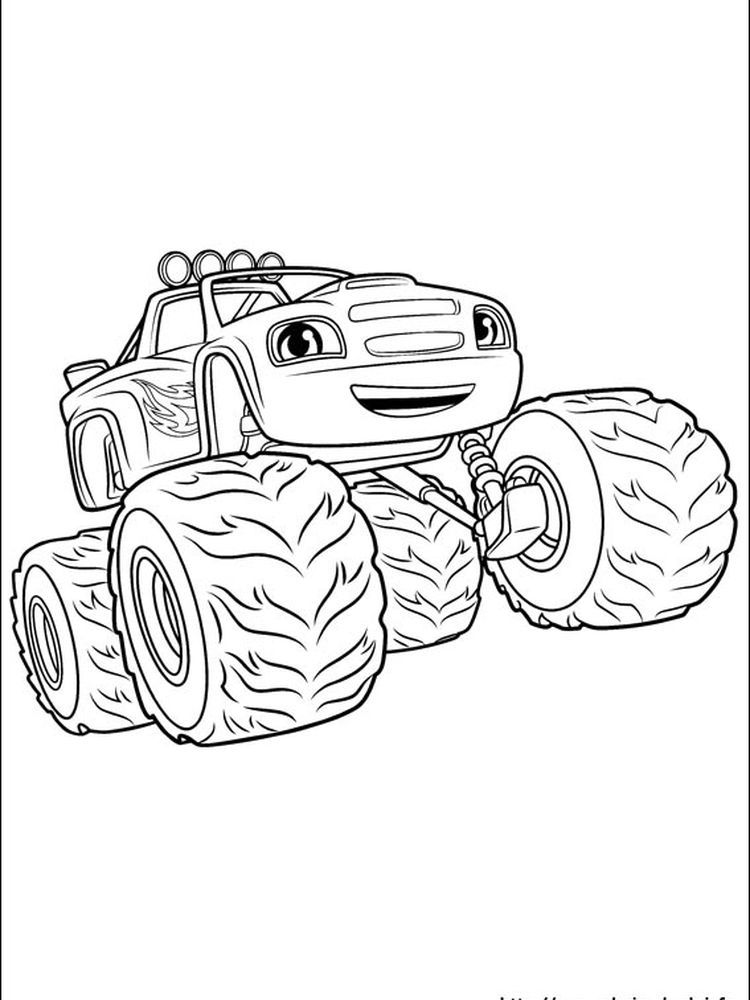 Printable Blaze Sheet Blaze And The Monster Machine Is An Animated Television Series Tha Cartoon Coloring Pages Coloring Pages To Print Nick Jr Coloring Pages