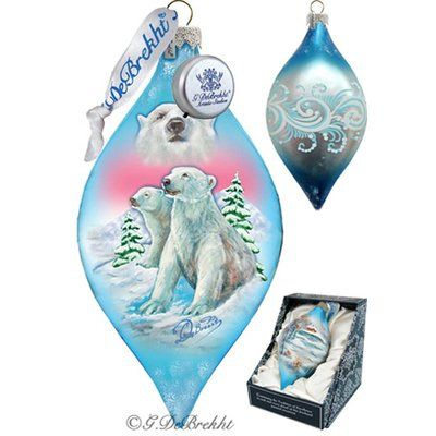 The Holiday Aisle Led Polar Bears Drop Ornament Holiday Splendor Collection In 2020 With Images Polar Bear Ornaments Hand Painted Ornaments Christmas Ornaments