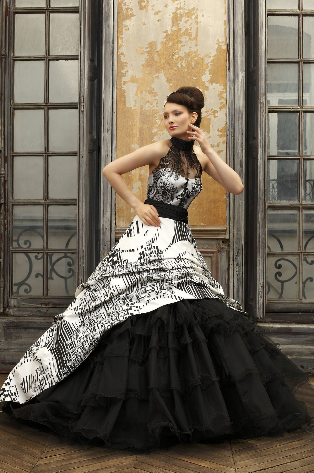 The Sexy and Sophisticated Touches on Black Wedding Gowns ...