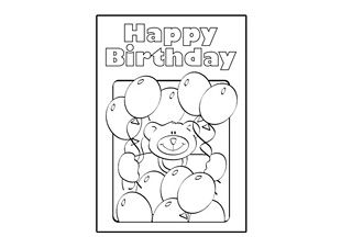 ChildrenS Birthday Card  Teddy Bear Theme Visit IchildCoUk