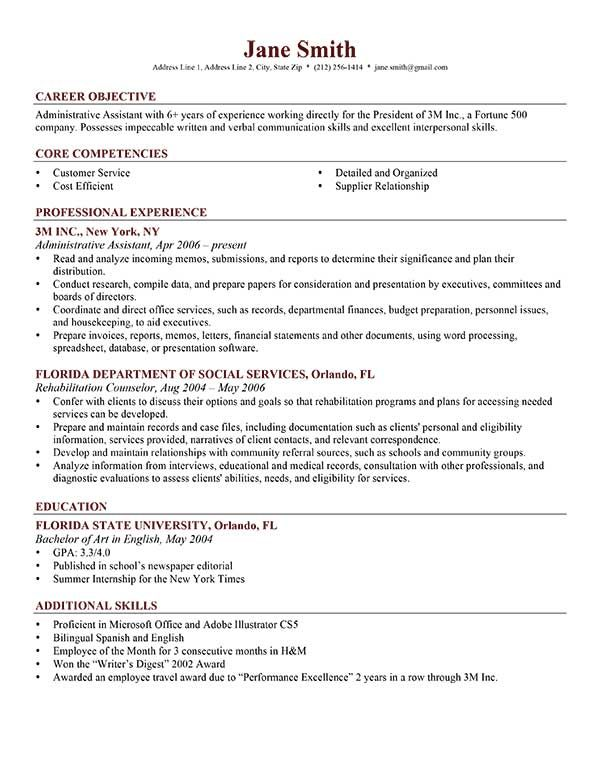 Nice Resume Template Professional Brick Red