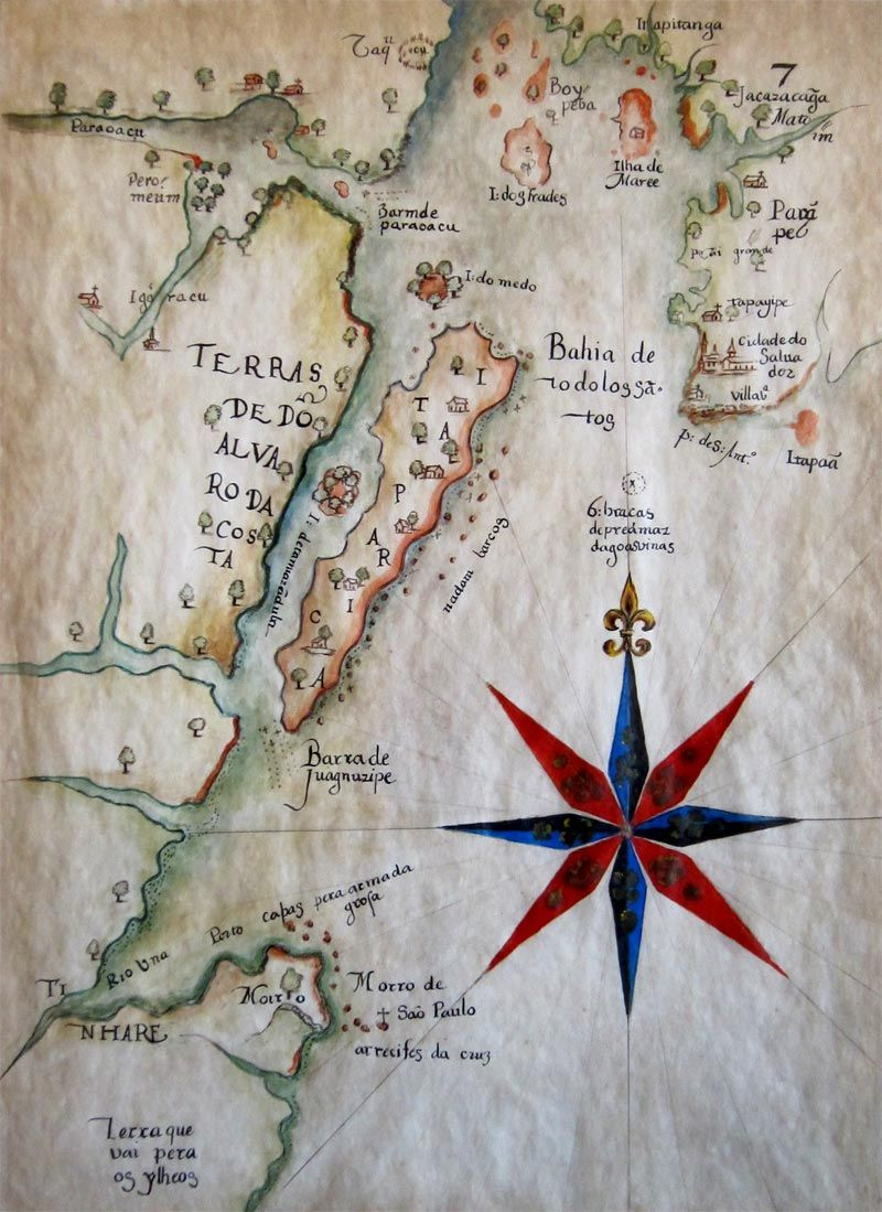 Map of the Bahia de Todos os