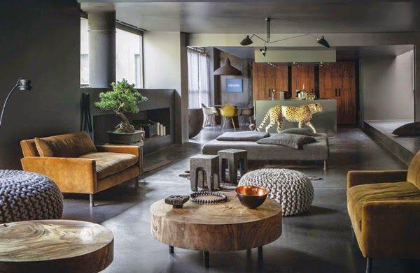 Stalk Chez Laurence Simoncini A Paris My Little Home Blog Meubles En Velours Architecte Interieur Deco