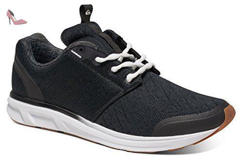 Quiksilver Shorebreak Youth, Baskets Mode Garçon - Noir (Black/Black/White), 38 EU