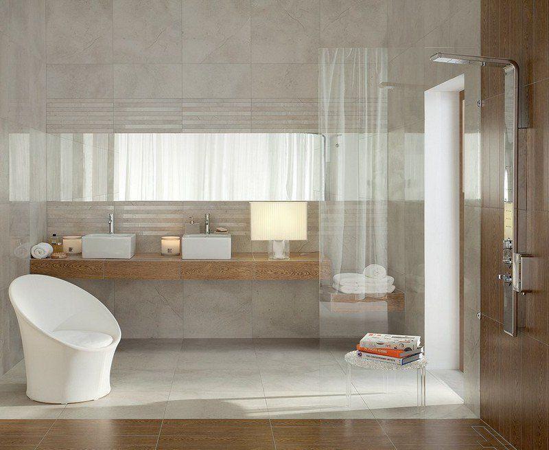 salle de bain noir et blanc ou en tons contrastés en 40 idées - Salle De Bain Beige Et Bois
