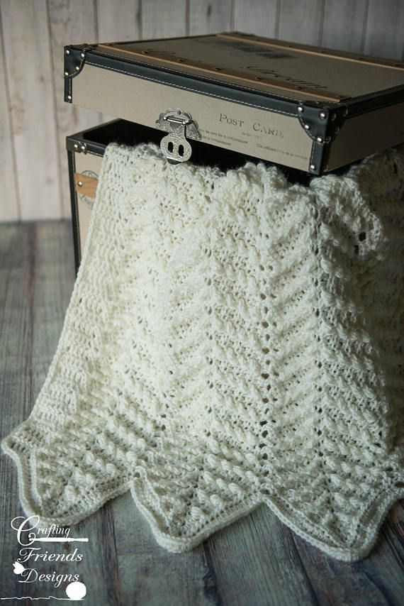 Crochet Pattern: Stand Out Cable Chevron Afghan by Crafting Friends ...