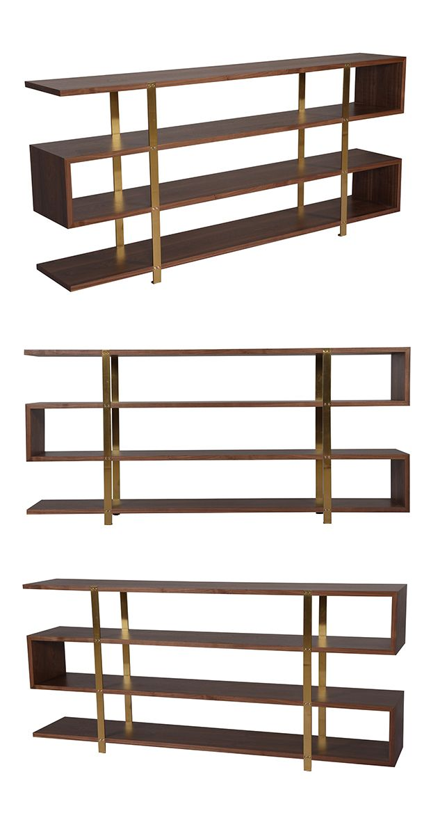 When it comes to bookcases, your beloved paperbacks and celebrated hardbacks deserve the crème de la crème of homes. With its striking, ultra-contemporary silhouette, this Modernist's Bookshelf will pr...  Find the Modernist's Bookshelf, as seen in the Mid-Century Luxe Collection at http://dotandbo.com/collections/mid-century-luxe?utm_source=pinterest&utm_medium=organic&db_sku=117112