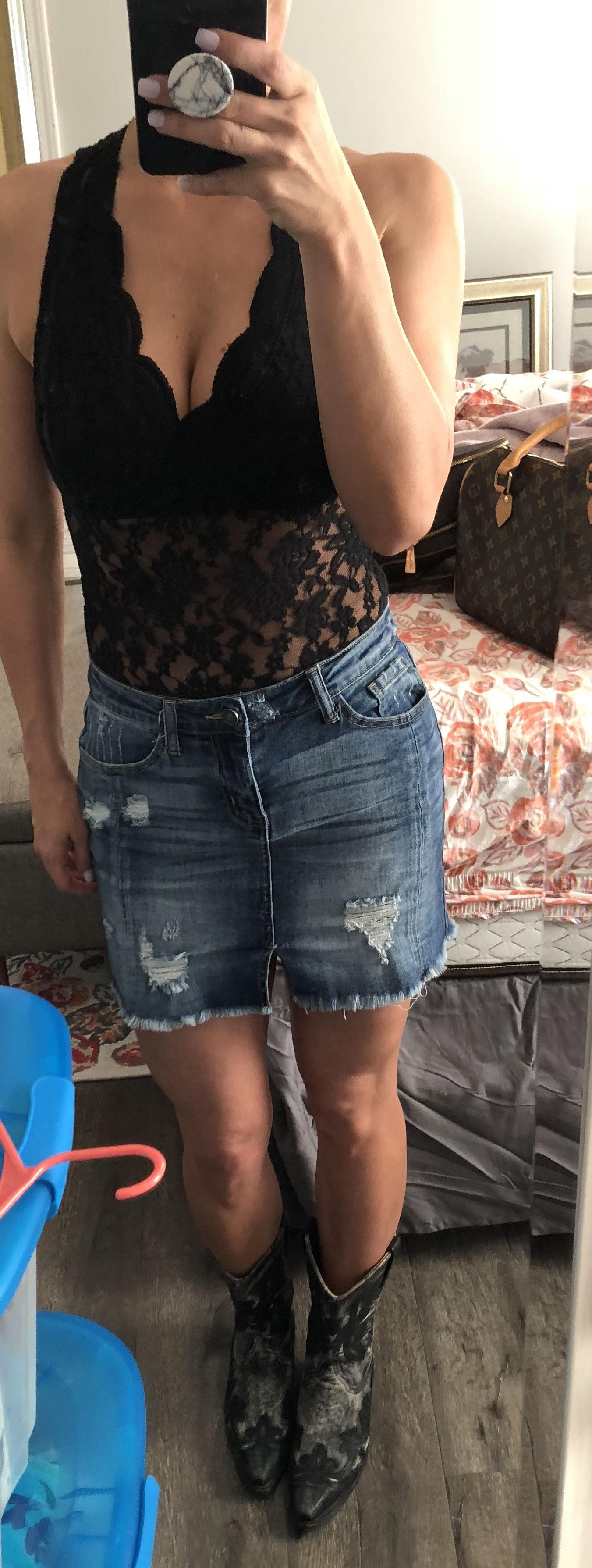 Lace bodysuit looks  Date night look Country music concert outfit Lace bodysuit jean