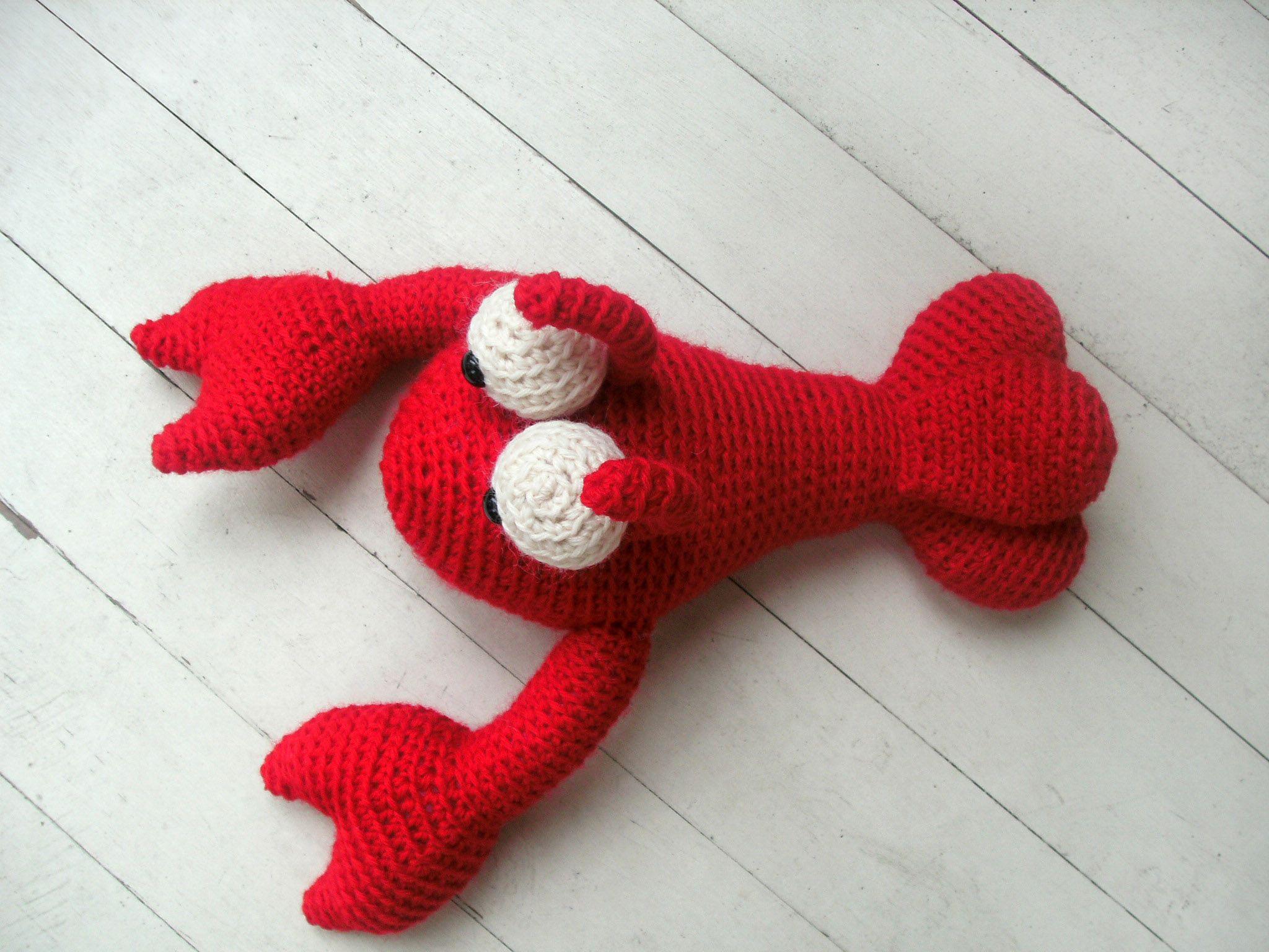 Cute Amigurumi Knitting Patterns : Free pattern alert frankie the lobster amigurumi crochet and