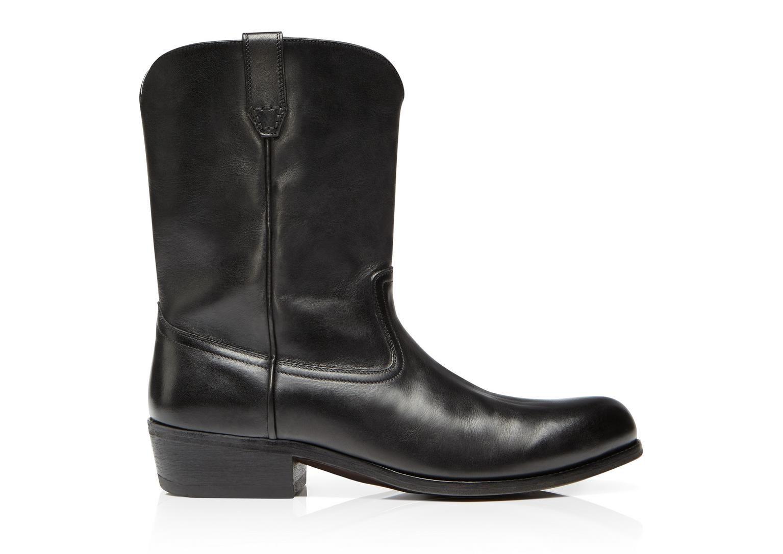 74db87de5ae4 Tom Ford Christopher Vintage Effect Cowboy Boot - 1