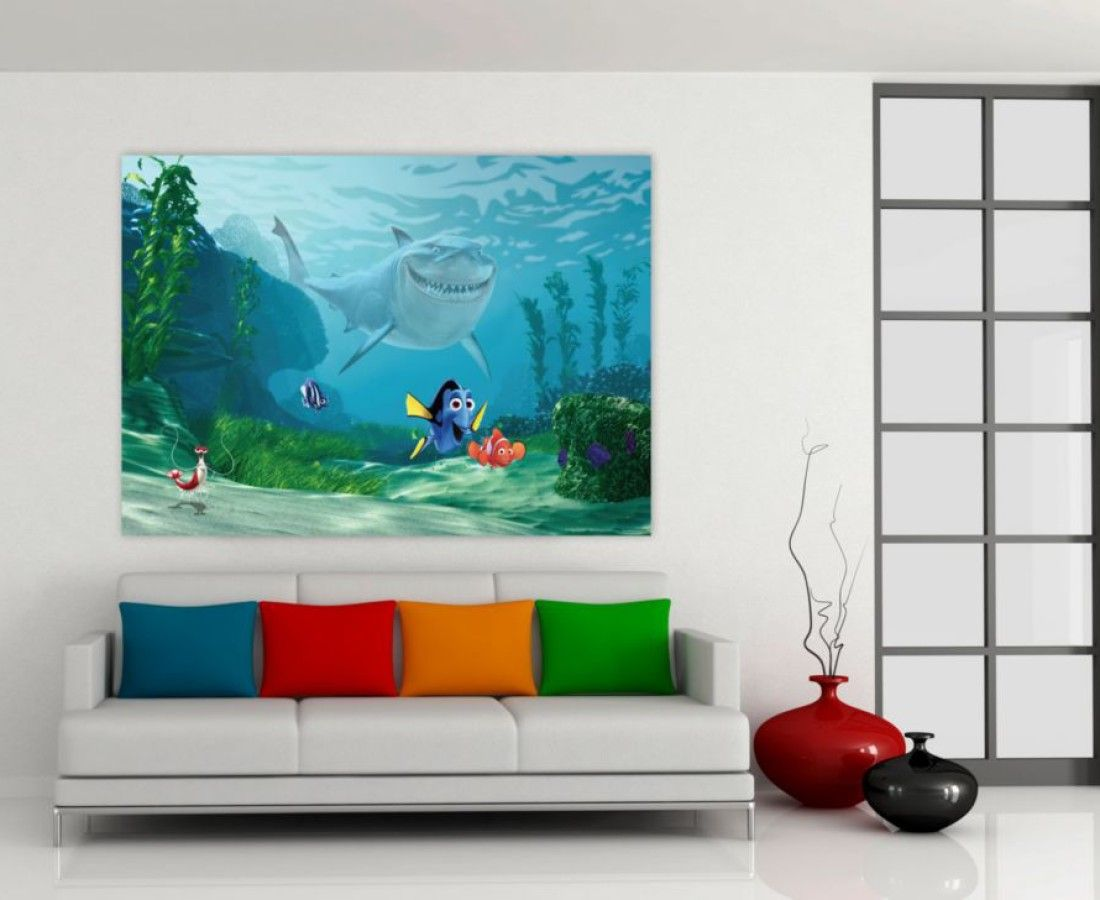 WallandMore Disney Finding Nemo Wall Decal Mural Kids Room Decor W By H    Disney Room For Teens   Disney.