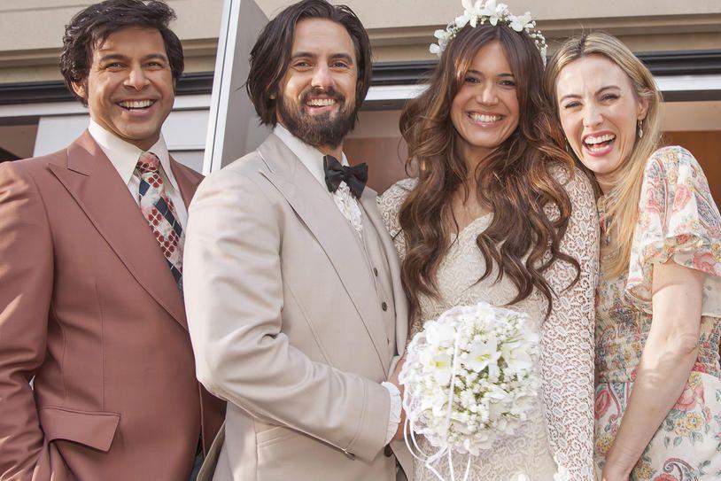 Jon Huertas, Milo Ventimiglia, Mandy Moore and Wynn Everett, This Is Us