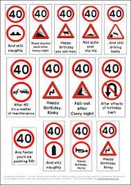 40th Birthday Cards Free Printable : birthday, cards, printable, Billedresultat, Birthday, Card,, Signs,