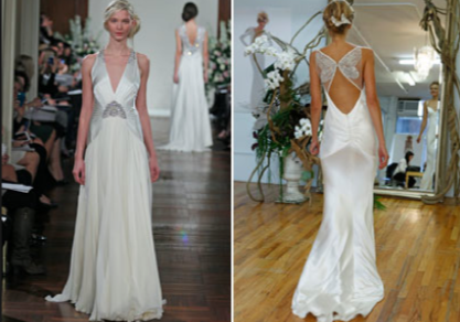 Roaring 20s style dress. Deco wedding dress, Wedding
