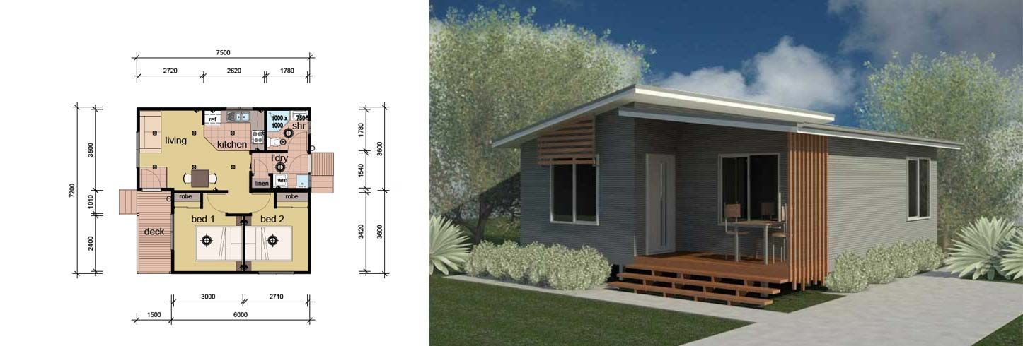 1 Bedroom Granny Flat Pre Fab Home   House   Pinterest   Granny flat     1 Bedroom Granny Flat Pre Fab Home