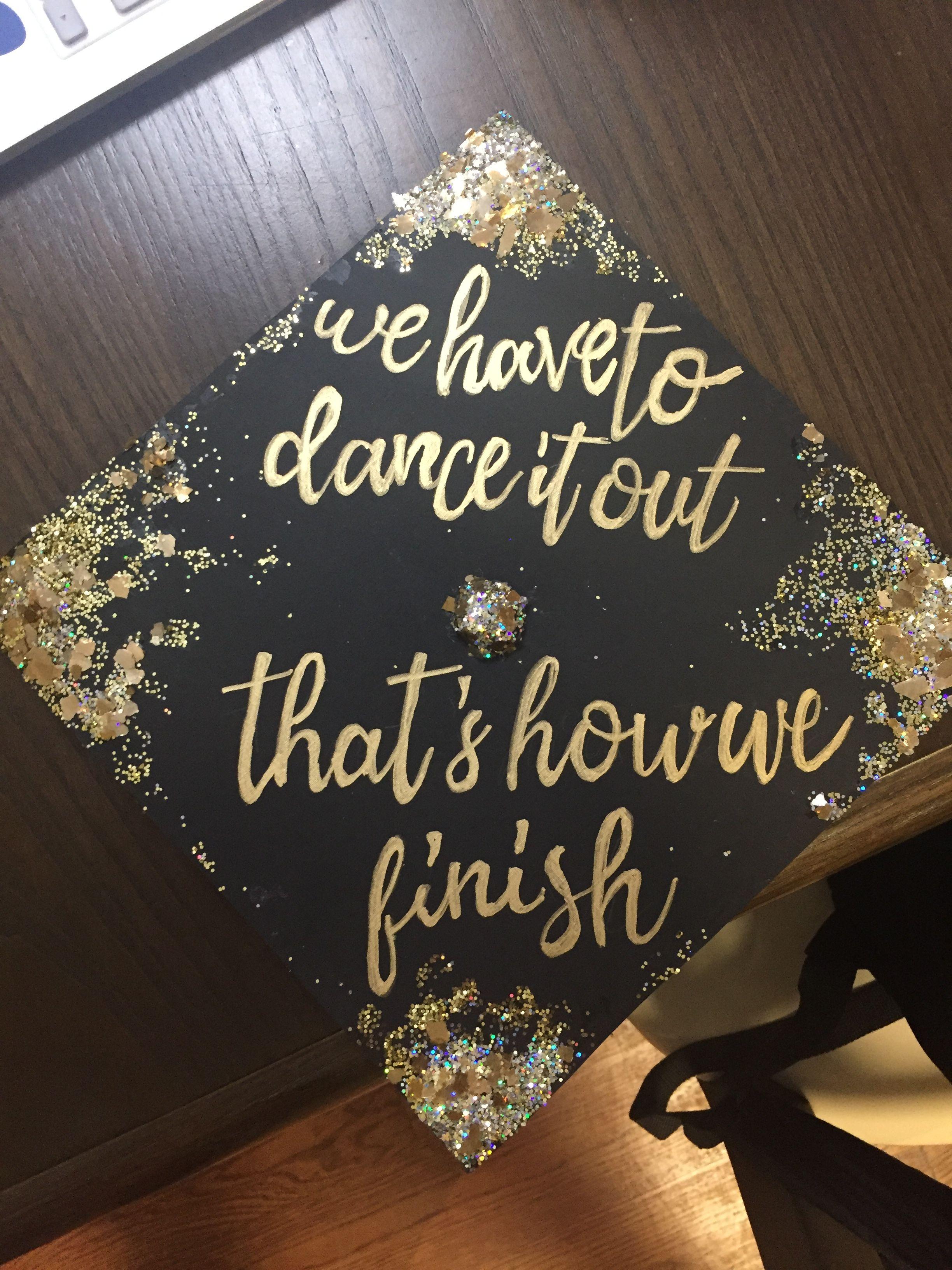 Graduation cap designs glitter images for Decor traduction