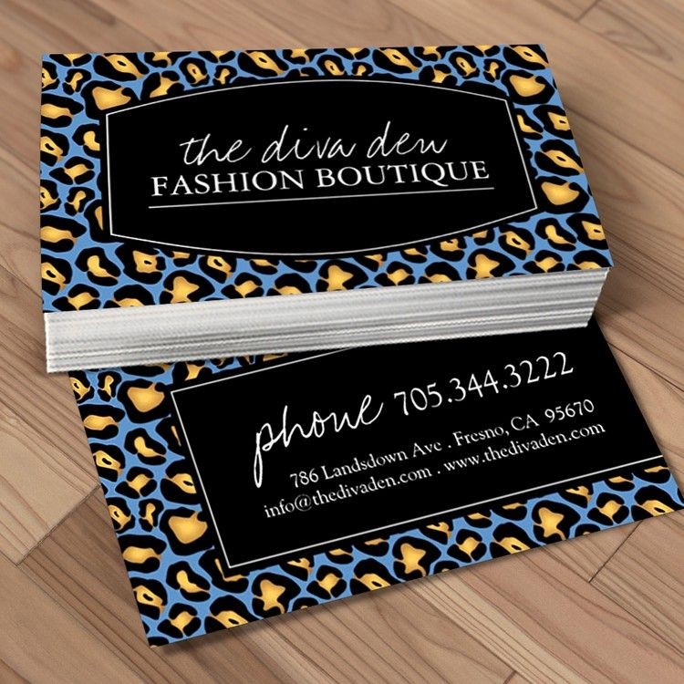 Fully customizable animal print business cards created by ...