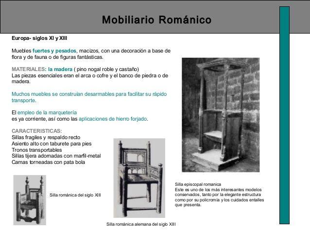 Mobiliario Románico Europa- siglos XI y XIII Muebles fuertes y ...