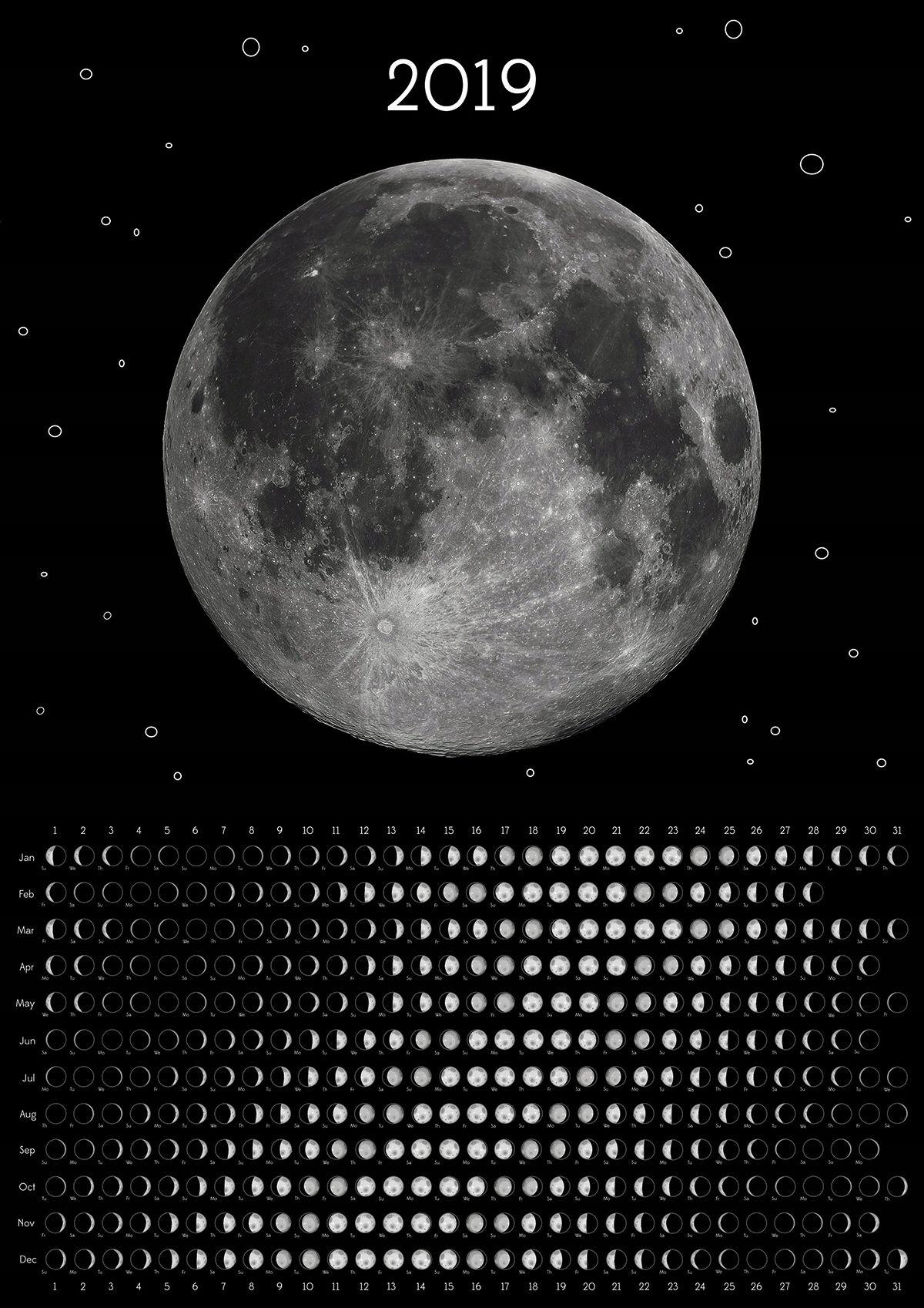 Kalendarz 2019 Fazy Ksiezyca Mysliwski A2 7714416514 Oficjalne Archiwum Allegro Moon Calendar Moon Phase Calendar Astronomy