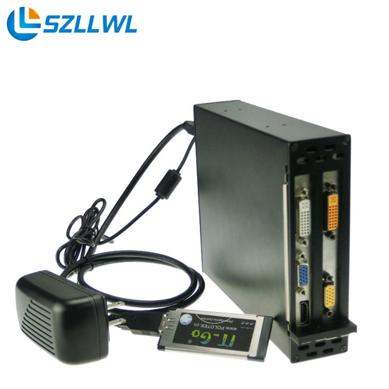 Laptop External Expresscard To Dual Pci E Adapter Slot Box For Notebook Expansion Network Card Graphics Card Sound Sound Card Riser Cards Computer Accessories