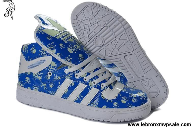 los angeles 27b8e 31bee Latest Listing Adidas X Jeremy Scott Metro Attitude Hi Skeleton Royal Blue  White Fashion Shoes Store
