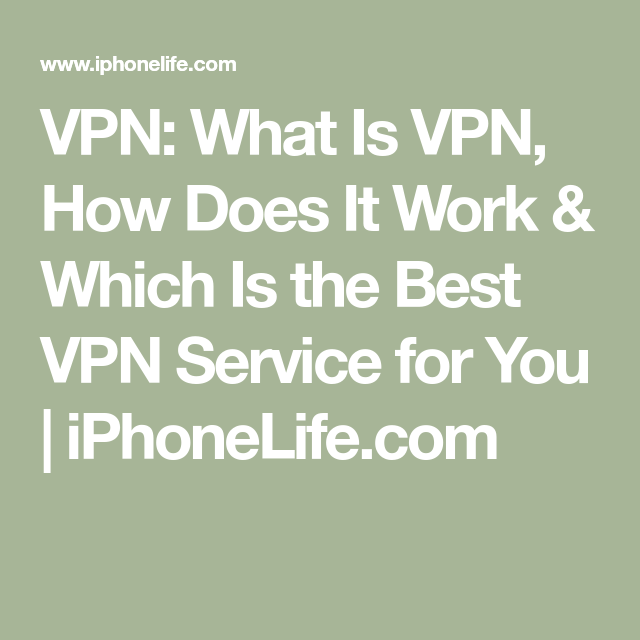 What Is Vpn And How It Works