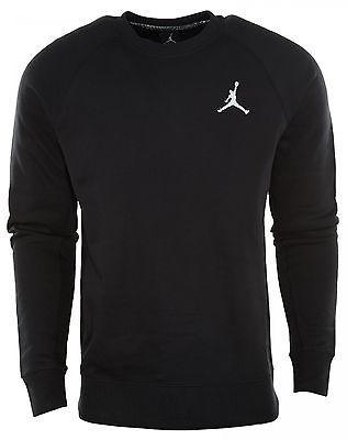f7b02bc6bdcc7a Nike Jordan Jumpman Brushed Crewneck Black Sweatshirt 688997-010 Mens Size  XL