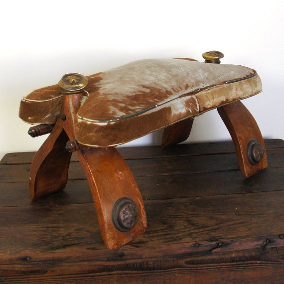 Footstool Antique Camel Saddle African Tribal By