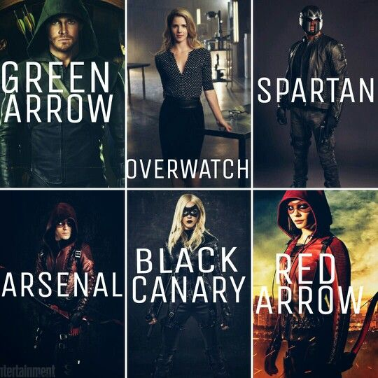 "#Arrow Oliver,Felicity,John(he is the 'Spartan' right?),Roy,Lauren & Thea ""Green Arrow,Overwatch,Spartan, Arsenal,Black Canary,Red Arrow"""