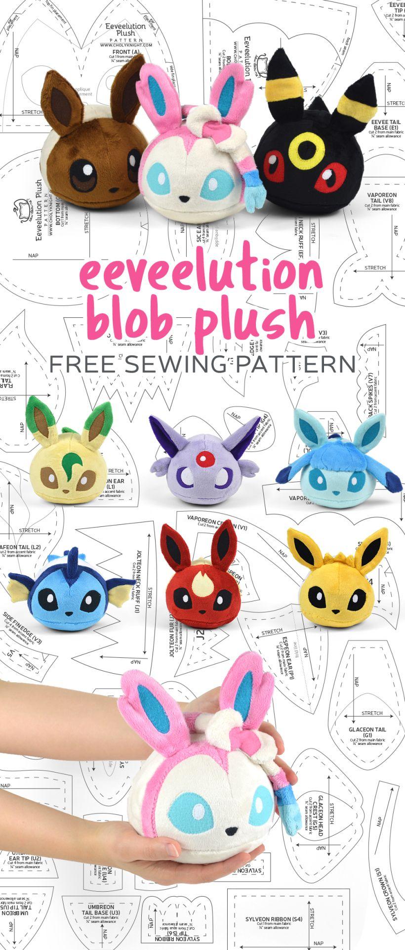 Free Pattern Friday! Eeveelution Blob Plush | Choly Knight | Stuffed ...