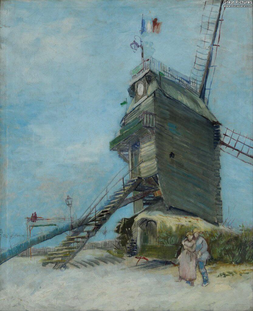 Vincent Van Gogh「Le Moulin de la Galette」(1887)