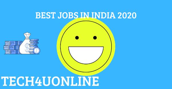Online Offline Best Jobs In India To Make Your Career In 2020 Online Work From Home Good Job Online Earning