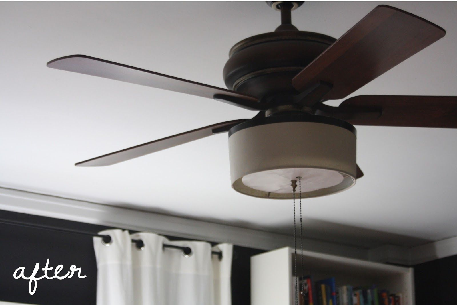 Add A Drum Shade To Your Ceiling Fan In 5 Minutes And Drums