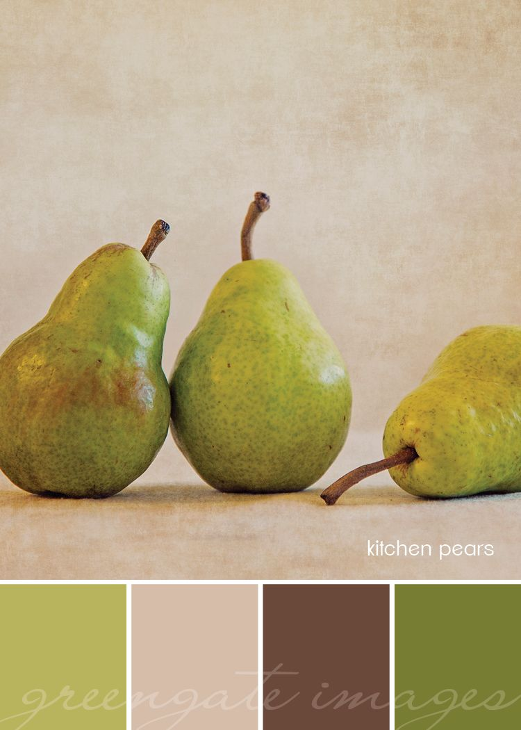 Natural pear green, beige, chartreuse, yellow-green, brown palette ...