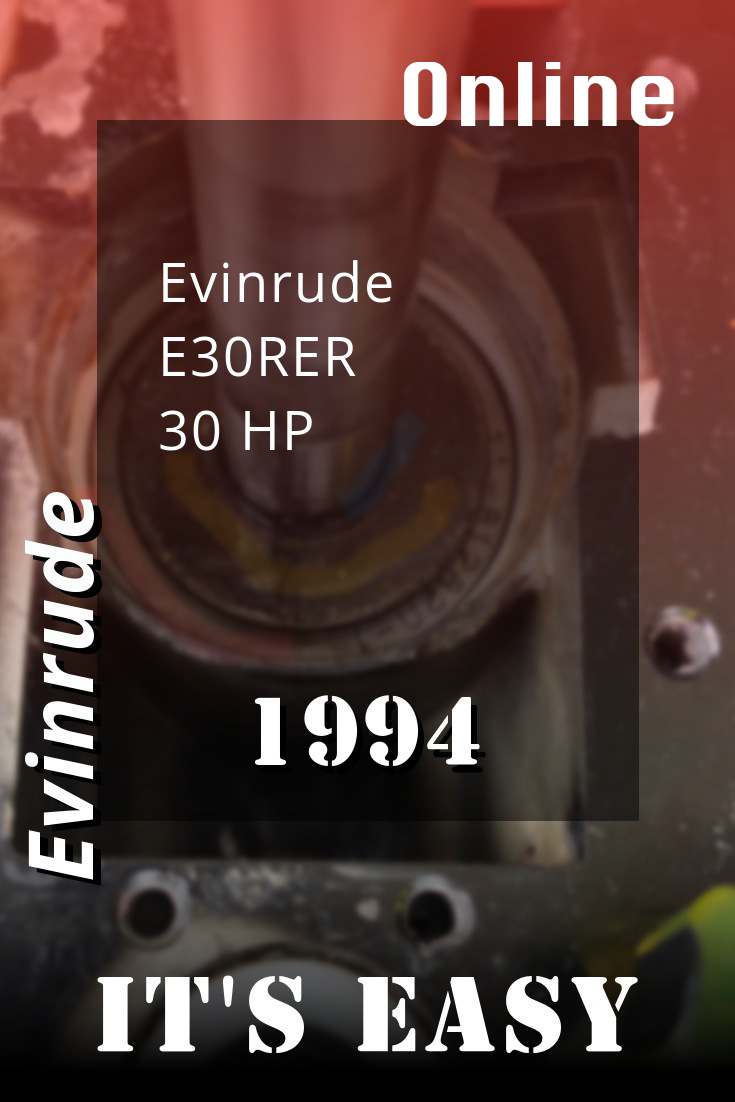 1994 E30rer Evinrude 30hp Outboard Motor Service Manual Repair Manuals Outboard Repair And Maintenance