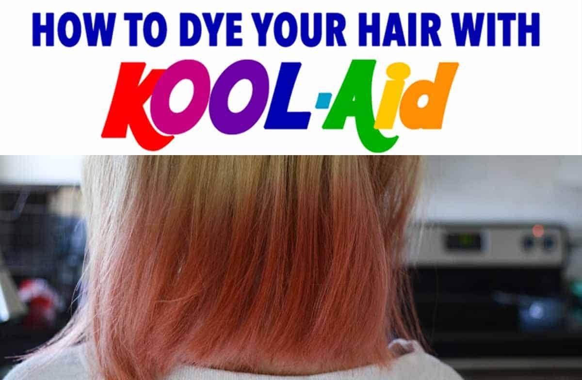 How To Dye Your Hair With Kool Aid Learn All The Tips Kool Aid Hair Dye Kool Aid Hair Brown Hair Dyed Blue