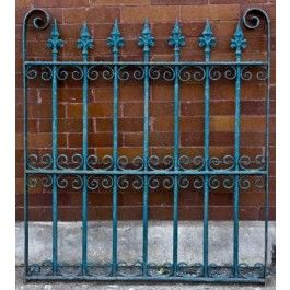 C 1880 S Victorian Era Ornamental Wrought Iron Exterior Fence