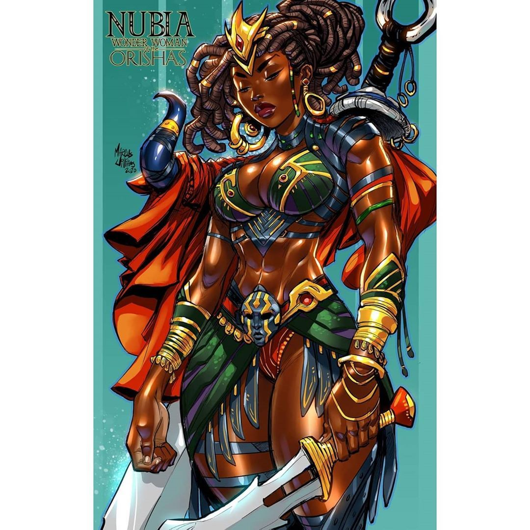Marcus Williams No Instagram My 5th Poster In My Fan Fiction Nubia Wonder Woman Of The Orishas The Al In 2020 Wonder Woman Black Women Art African American Artist