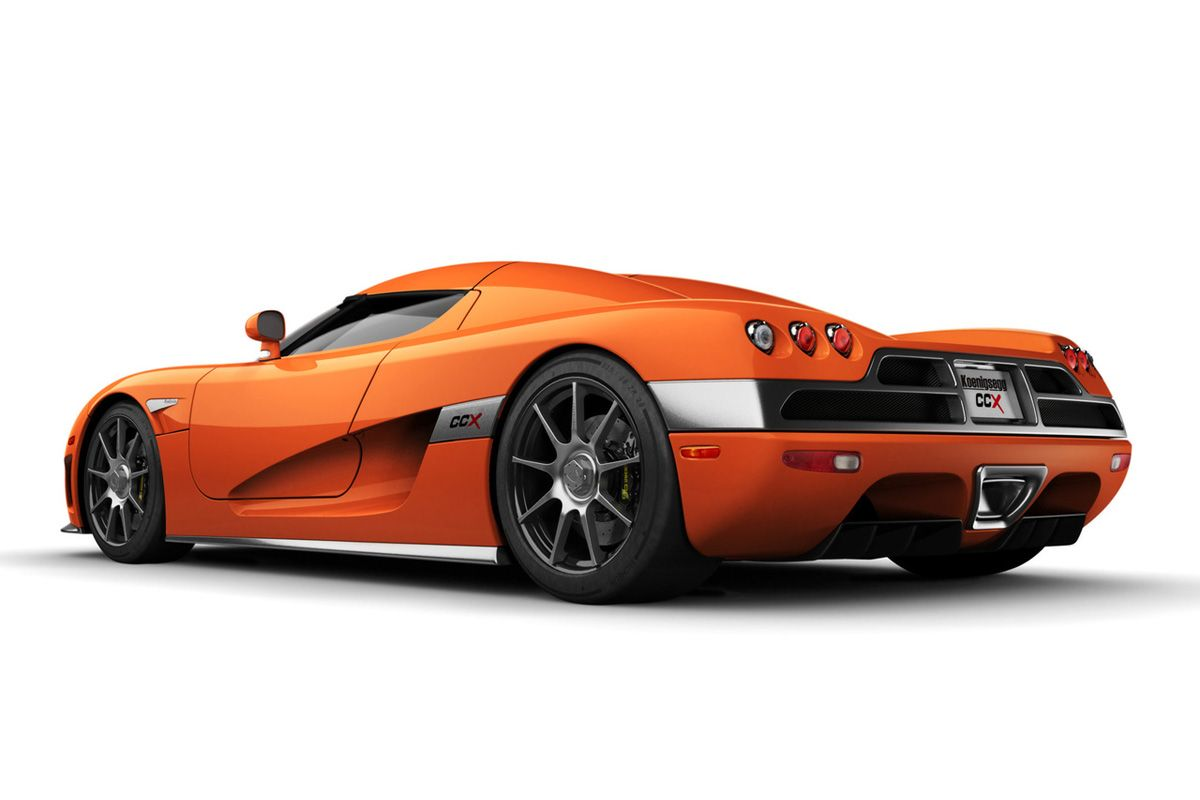 Koenigsegg CCX: 245 mph (394 km/h), 0-60 in 3.2 secs. 90 Degree V8 Engine 806 hp, base price is $545,568. Made in Sweden, it is the older brother of the Agera R, only losing to 4 other supercars in the world.
